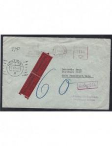 Carta Alemania urgente franqueo mecánico y marca de tasa Alemania - Desde 1950.