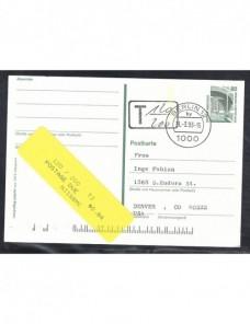 Tarjeta entero postal Alemania doble marca de tasa Alemania - Desde 1950.