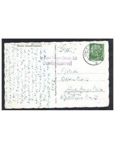 Tarjeta postal Alemania marca devolución  Alemania - Desde 1950.