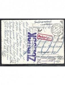 Tarjeta postal Alemania marcas devolución y de tasa Alemania - Desde 1950.