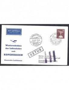 Lote temático. Tema aviación. Sobre entero postal Alemania matasellos Alemania - Desde 1950.