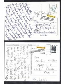 Dos tarjetas postales Alemania etiqueta retraso en entrega Alemania - Desde 1950.