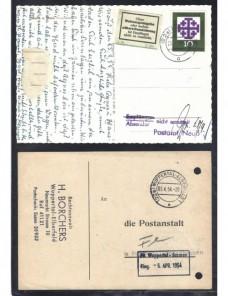 Dos tarjetas postales Alemania marcas devolución  Alemania - Desde 1950.