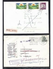 Tres cartas Alemania etiquetas de devolución Alemania - Desde 1950.
