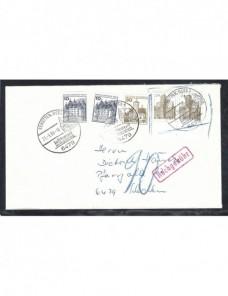 Carta Alemania franqueo mixto fraudulento y marca de tasa Alemania - Desde 1950.