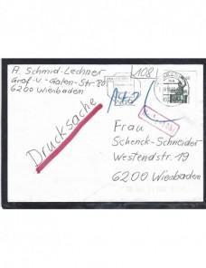 Carta Alemania franqueo irregular y marca de tasa Alemania - Desde 1950.