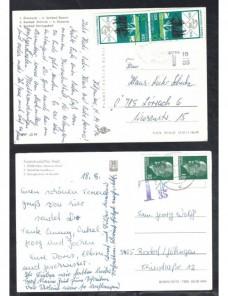 Dos tarjetas postasles Alemania Democrática marca de tasa Alemania - Desde 1950.