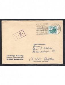 Lote temático. Tema medicina. Carta Alemania matasellos especial Matasellos y franqueos mecánicos.