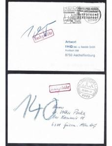 Lote temático. Tema arquitectura. Seis cartas Alemania matasellos Matasellos y franqueos mecánicos.