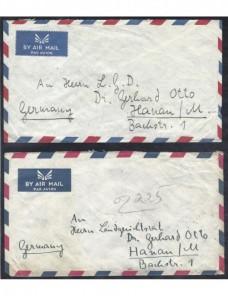 Tres cartas correo aéreo Afganistán Otros Mundial - Desde 1950.