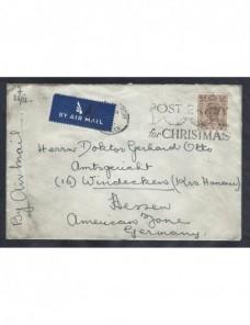 Lote temático. Tema Navidad. Carta Gran Bretaña matasellos Matasellos y franqueos mecánicos.