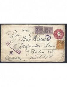 Sobre entero postal certificada Estados Unidos EEUU - 1900 a 1930.