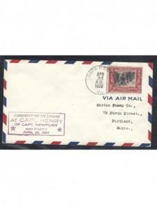 Carta Estados Unidos marca conmemorativa EEUU - 1900 a 1930.