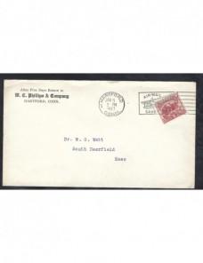 Carta comercial Estados Unidos matasellos de rodillo especial EEUU - 1900 a 1930.
