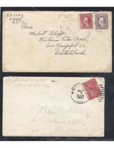 Dos cartas Estados Unidos EEUU - 1900 a 1930.