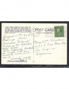 Tarjeta postal ilustrada Estados Unidos EEUU - 1931 a 1950.