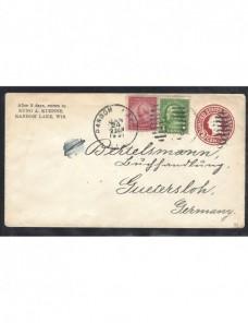 Sobre entero postal comercial Estados Unidos EEUU - 1931 a 1950.