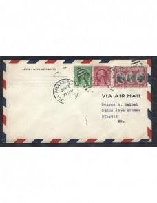Carta aérea Estados Unidos publicidad aerolínea United EEUU - 1931 a 1950.