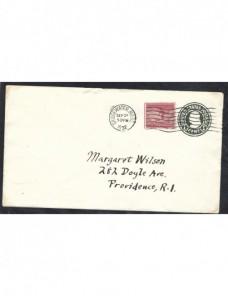 Sobre entero postal Estados Unidos error de impresión EEUU - 1931 a 1950.