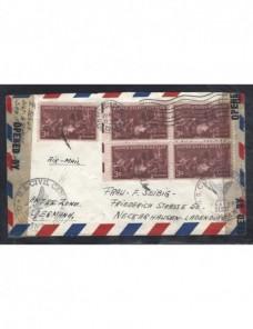 Carta aérea Estados Unidos censura militar Alemania bizona EEUU - 1931 a 1950.