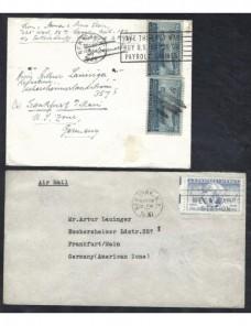 Dos cartas correo aéreo Estados Unidos EEUU - 1931 a 1950.