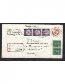 Sobre entero postal correo aéreo Estados Unidos certificado EEUU - Desde 1950.