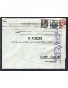 Carta comercial España II República censura militar Guerra Civil Zona Republicana - Guerra Civil Española.