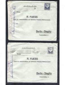 Dos cartas comerciales España II República censura militar Guerra Civil Zona Republicana - Guerra Civil Española.