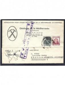 Tarjeta postal España II República censura militar Guerra Civil Zona Republicana - Guerra Civil Española.