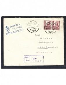 Carta Estado Español censura militar Sevilla Guerra civil  Zona Nacional - Guerra Civil Española.