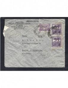 Carta aérea Brasil censura militar Alemania II Guerra Mundial Otros Mundial - 1931 a 1950.