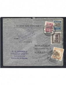 Carta aérea Colombia correo aéreo mancomún Otros Mundial - 1931 a 1950.