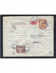 Carta Colombia correo oficial vía Siberia y censura militar Otros Mundial - 1931 a 1950.