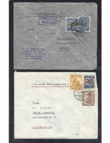 Tres cartas aéreas Colombia correo aéreo mancomún  Otros Mundial - 1931 a 1950.