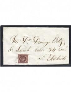 Carta España Isabel II Valdepeñas España - Siglo XIX.