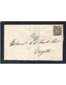 Carta España Isabel II Zafra España - Siglo XIX.