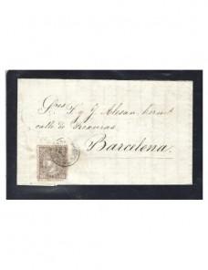 Carta España Granollers Isabel II España - Siglo XIX.
