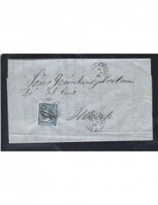 Carta España Valencia Isabel II España - Siglo XIX.