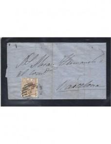 Carta España Palencia Isabel II España - Siglo XIX.
