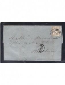 Carta España Gerona Isabel II España - Siglo XIX.