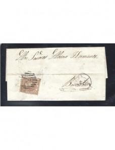 Carta España Lérida Isabel II España - Siglo XIX.