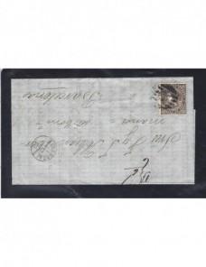 Carta España Zaragoza Isabel II España - Siglo XIX.