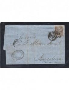 Carta España Reus Isabel II España - Siglo XIX.