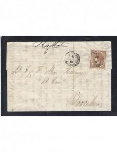 Carta España Vera Isabel II España - Siglo XIX.