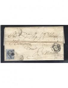 Carta España Cartagena Amadeo I España - Siglo XIX.