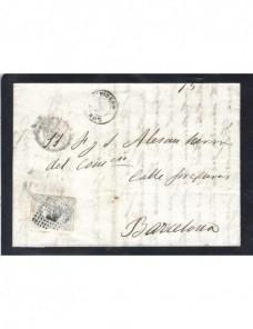 Carta España Lorca Amadeo I España - Siglo XIX.
