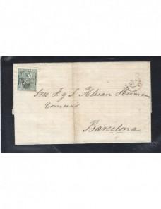 Carta España Zaragoza I República España - Siglo XIX.