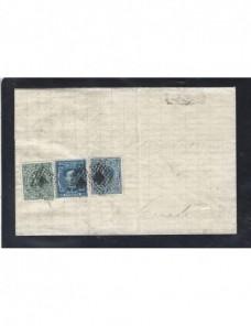 Carta España Málaga Alfonso Xii impuesto de guerra España - Siglo XIX.