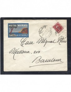 Carta España II República Palamós publicidad hotel España - 1931 a 1950.