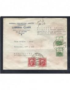 Carta España II República Sallent valores declarados y lacres España - 1931 a 1950.